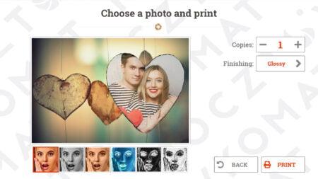 Choose a phot and print postcard